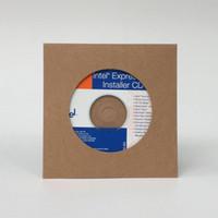 Wholesale Kraft Paper Cardboard CD DVD Sleeves Case Envelope Packaging with Window