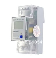 Wholesale 5 A V Hz Single Phase Reset To Zero DIN rail Kilowatt LCD Hour kwh Meter order lt no track