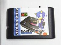 Wholesale The Generation Version Of Sega Sega MD Card SEGA GENESIS MEGA DRIVER MD Flash Cartridge Support JAP America and European Game Machiine