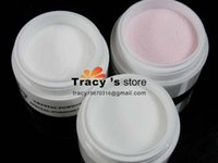 Wholesale New Nail Art Tips Care Crystal Acrylic Powder Colors White Pink Clear Polymer Gel French Manicure