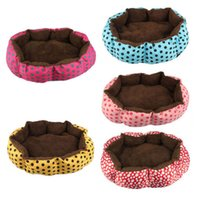 Cheap Brand new lovely Soft Flannel Pet Dog Puppy Cat Warm Plush Bed J3G#