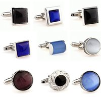 Wholesale Men s New Fashion Classic silver shirt cufflinks French cool gift cuff links