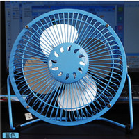 Wholesale 6 inch USB Mini Electric Fan connect to computer laptop pc USB Cooler Cooling Desk Fan shipping free