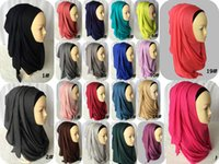 go go costume - MLJ001 New colors Cotton Jersey Instant shawl Slip On Instant Amira Style on the go Hijab Scarf Curve Edges