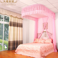 aluminum curtain rail - Victoria Ceiling Ceiling rail beautiful poetry style palace princess mosquito nets rope U shaped aluminum curtain embroider
