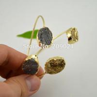 agate bangle - Mixed Color Agate Drusy Druzy quartz Gem stone Bangle Bracelets Jewelry Finding