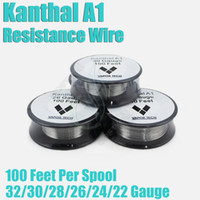 wire - Kanthal A1 Resistance Wire Feet Spool awg Gauge Heating pre coil Wire DIY vape mod RDA e cigarette cig mod atomizer RBA