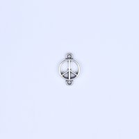 dog charms - New fashion Retro peace symbol charm silver copper DIY jewelry pendant fit Necklace or Bracelets