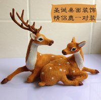 best service synthetics - Best Service High Quality Merry Christmas Gift Lovers Deer Christmas Reindeer Deer Christmas Decoration with Couple Reindeer