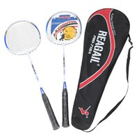Wholesale 2Pcs Badminton Training Racket with Carry Bag In outdoorSport Equipment