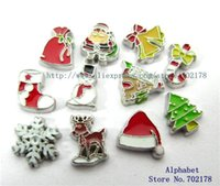 Wholesale FC321 Christmas series zinc alloy DIY floating locket charms fit for floating living locket
