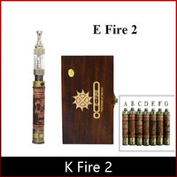 k fire ecig - K Fire Wood E cig Vision Spinner Battery Variable Voltage Metal bottom Battery Mod K Fire Ecig Kit with iclear atom freeshipping