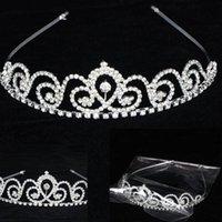 Cheap Wedding Bridal Tiara Rhinestone Crystal Crown Prom Veil Headband
