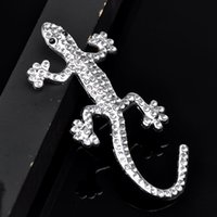 Wholesale 3D Gecko rhinestone Stickers Hot Sale Car Accessories Car Styling Car Sticker Decal Accessories High Quality