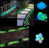 parterre - AG43 bags Garden Parterre Decor Glow in the Dark Fluorescent Pebble Stone glowing Stones for Walkway light up Fish tank