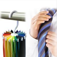 Wholesale Closet Organizer Home Hanger Rack Holder Belt Necktie Scarf Muffler Tie Brand New Good Quality Hot Sales