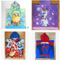 average thermals - Newest cm Cartoon Despicable Me Towel Cotton Bathroom towels Hooded The Averages Children Baby beach towel kids styles A387