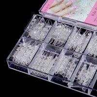 Gros-faux ongles 60pcs / set système Nail double formulaire pour obtenir des conseils de moisissures UV GEL verre Nail Art Décoration faux ongles en acrylique