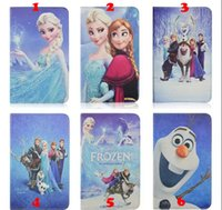 Wholesale Frozen Leather case Cartoon Movie Anna Princess Elsa Olaf Folio Stand holder Smart cover For Samsung Galaxy Tab inch Lite T110