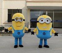 Commercio all'ingrosso di trasporto-Despicable Me Minion Minion costume della mascotte del costume della mascotte libera