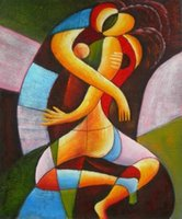 art cubism - Hand painted modern art cubism style oil painting on canvas modern home decor no Frameless draw