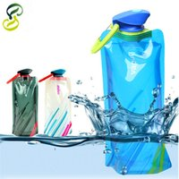 Wholesale Water Bag ML Portable Folding Sports Water Bag Outdoor Climbing Foldable Sports Water Bottle