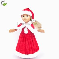 Multi-Color american girl doll boots - newest Handmade inch American Girl Doll clothes and accessories Christmas hat Christmas dress Fits quot American Girl dolls