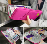 Wholesale Multi function Fabric Passport Holder Travel Journey wallet Case Bag Wallet Purse Organizer DY66
