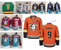 anaheim - New Anaheim Ducks Paul Kariya Jersey Retro Team Alternate White Orange Green Purple Red Ice Hockey Paul Kariya Throwback Jersey