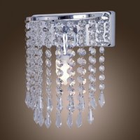 Wholesale V Modern Crystal Wall Sconce Home Decoration Bedside Lamp Light Max W L22XW12CM In Fast Delivery Time