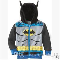 Wholesale 100pcs CCA2126 New Spring Boys Clothing Classic models hoodies sweater zipper jacket Kids Batman Dora coats children Hoodies clothes