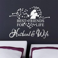 best friends wife - 8385 Husband and wife best friend quote wall stickers home decor vinyl wall sticker home decoration waterproofing wallpaper