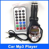 Wholesale Black Lute Car MP3 Player FM Transmitter Modulator with USB SD TF Slot Card Remote Control Car kit MP3 Foldable FM Transmitter