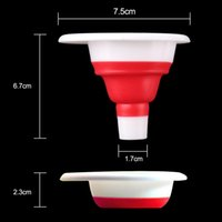 Wholesale New Mini Silicone Practical Gel Practical Foldable Funnel Cute Collapsible Style Kitchen Tool High quality