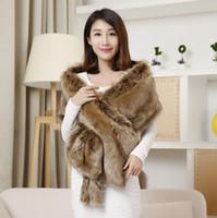 Wholesale Hot sale brand new High Grade Elegant Bridal Wedding Faux Fur Long Shawl Stole Wrap Shrug Scarf