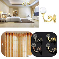 Wholesale New pair Crystal Clear Ball Wall Tie Clothes Towl Tieback Hooks Curtain Hanger