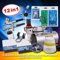 Wholesale Oil free air compressor with airbrush and fitting for body paint and tattoo AS18 kit