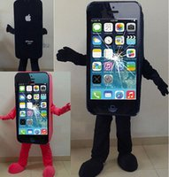 advertising apparel - Hot sales EVA Material Iphone Mascot Costume SALE Mobile Phone Cellphone Advertising Apparel Adult Size