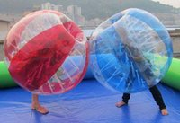Wholesale bumper balls zorb ball M or M and M mm PVC or TPU football bubble inflatable kids and adult s toys air pump complimentary