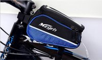 4'' bicycle top tube bag - Bicycle front tube bag Waterproof quot quot quot Bike bag top tube Bicycle bag Frame Tube Panniers Touchscreen Phone Case Reflective