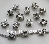 Cheap Free shipping 50pcs 13x11mm antique silver baby car shape big hole charms fit European snake bracelet jewelry DIY