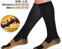 Wholesale Miracle Copper Socks Anti Fatigue Copper Compression Socks Stocking New S M L XL Unisex For Sport