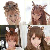 bendy wire headbands - New women lady s Elk horn Headband Hairband Wire Bendy Bow Alice band Rabbit Bunny Ear colors