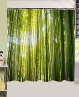 bamboo bathroom products - bathroom products Forest Green Bamboo printed cmx180cm polyester fabric Shower Curtain rideau de douche