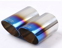 exhaust pipe for muffler - For MAZDA CX CX5 Stainless Steel Exhaust Tip Tail Pipe Muffler Exterior Accessories Car Styling High Quality pair