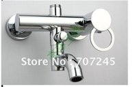 Wholesale Pure brass Bathtub faucet Triple faucet Mixing valve Shower faucet with upper outlet mouth order lt no tracking