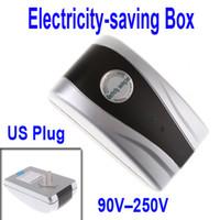 Wholesale Hot Sale New Power Electricity Energy Saving Box Energy Saver US Plug V V KW Freeshipping free shipp