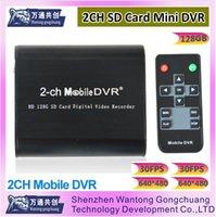 2 canales mini DVR protable Mini 2CH DVR Video Recorder Vigilancia CCTV Detector de Movimiento Vehículo de coche DVR