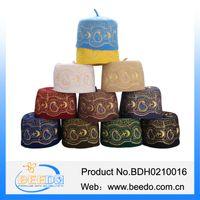 azan products - new hot products flat top wool felt Islamic muslim prayer cap muslim azan hat