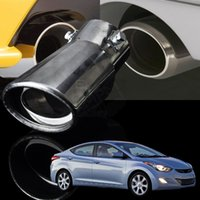 Wholesale Car Exhaust Tail Pipe Stainless Steel Refit End Pipe Muffler Tip Real Eduction Product For Hyundai Verna Elantra Sonata I30 A14